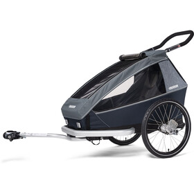 Croozer Kid Vaaya 1 Remorque enfant, graphite blue